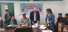 प्रमुख प्रशासकिय अधिकृत श्री रमेश राई आ. व २०७६/७७ को कार्य प्रगति विवरण पेश पर्नु हुदै
