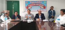 गाउँपालिका अध्यक्ष श्री किरण राई प्रश्नहरुको उत्तर दिनुहुदै